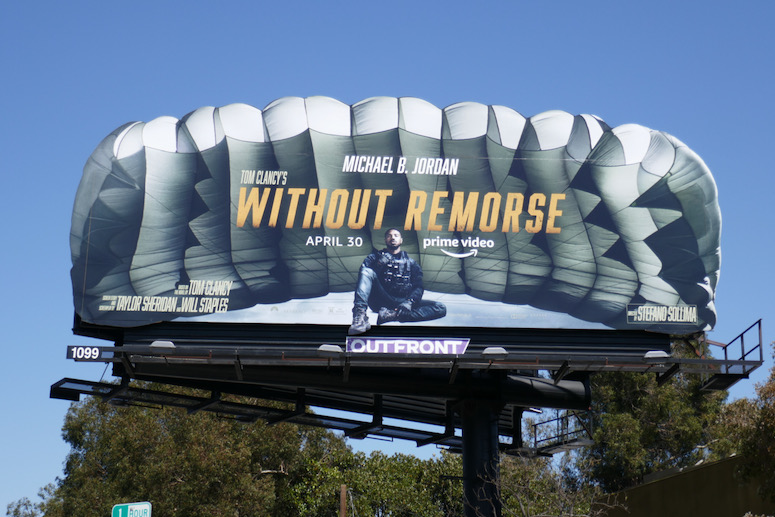Without Remorse parachute extension billboard