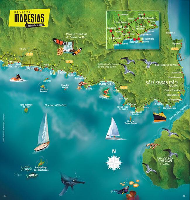 Mapa by Revista Maresias (Atual Revista Praias)