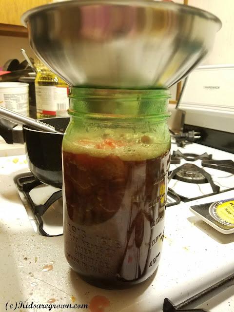 Strawberry Syrup in Mason Jar