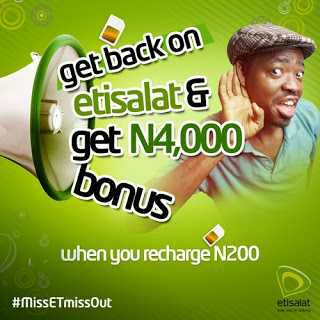 How To Get Free ₦4000 From Etisalat With Just ₦200