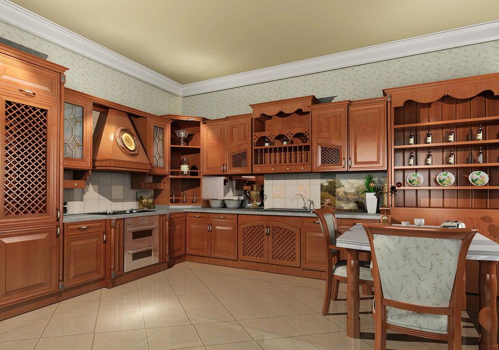 Modern solid wood kitchen cabiets designs photos  An