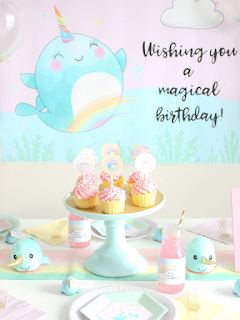 Free narwhal birthday printables