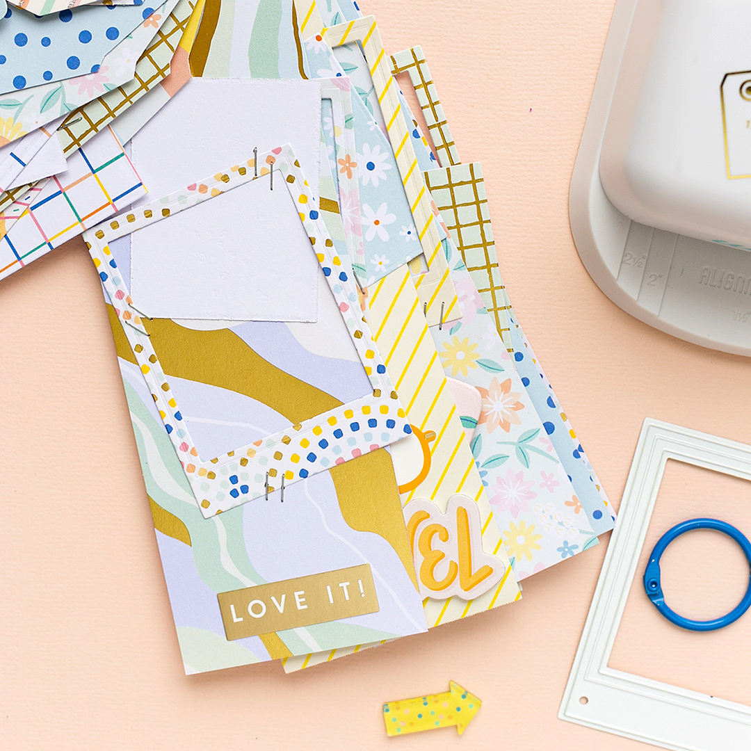 Die-cut polaroid frames and add them to your scrapbook and papercrafting projects. Stickers, and die-cuts from Buenos Dias by Obed Marshall