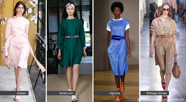 Приталенные платья на подиуме весна-лето 2018