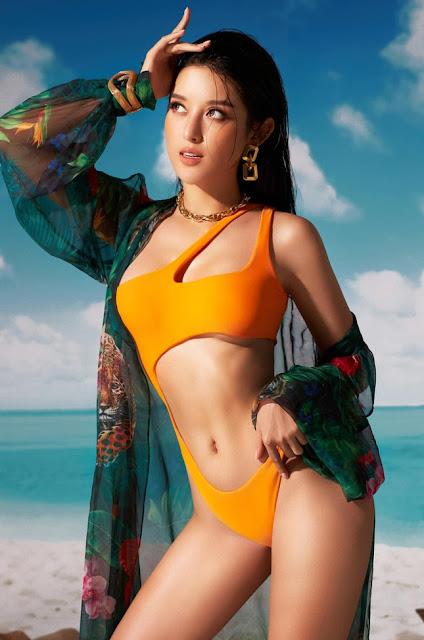 Ảnh người đẹp bikini: Á hậu Huyền My mặc bikini cực xinh 6