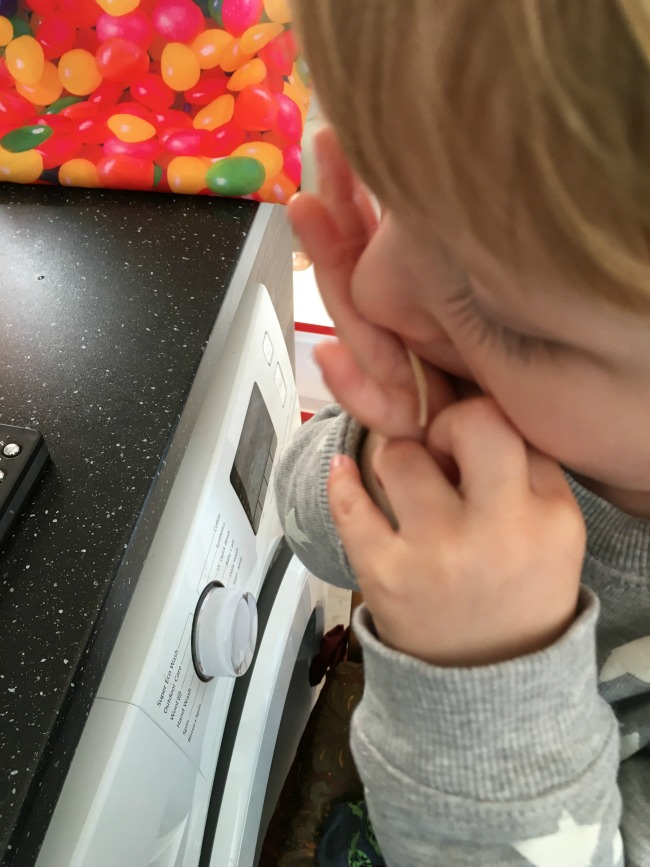 toddler eating cheese