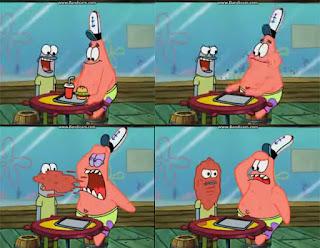 Polosan meme spongebob dan patrick 79 - patrick bekerja di krusty krab dan membuat masalah dengan pelanggan