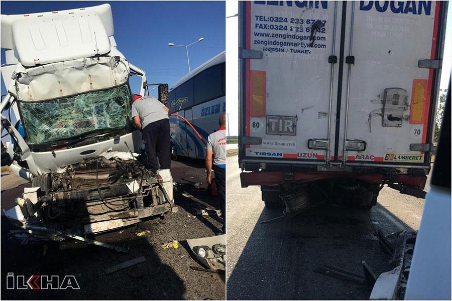 Diyarbakır Bismil'de kaza: 1 yaralı