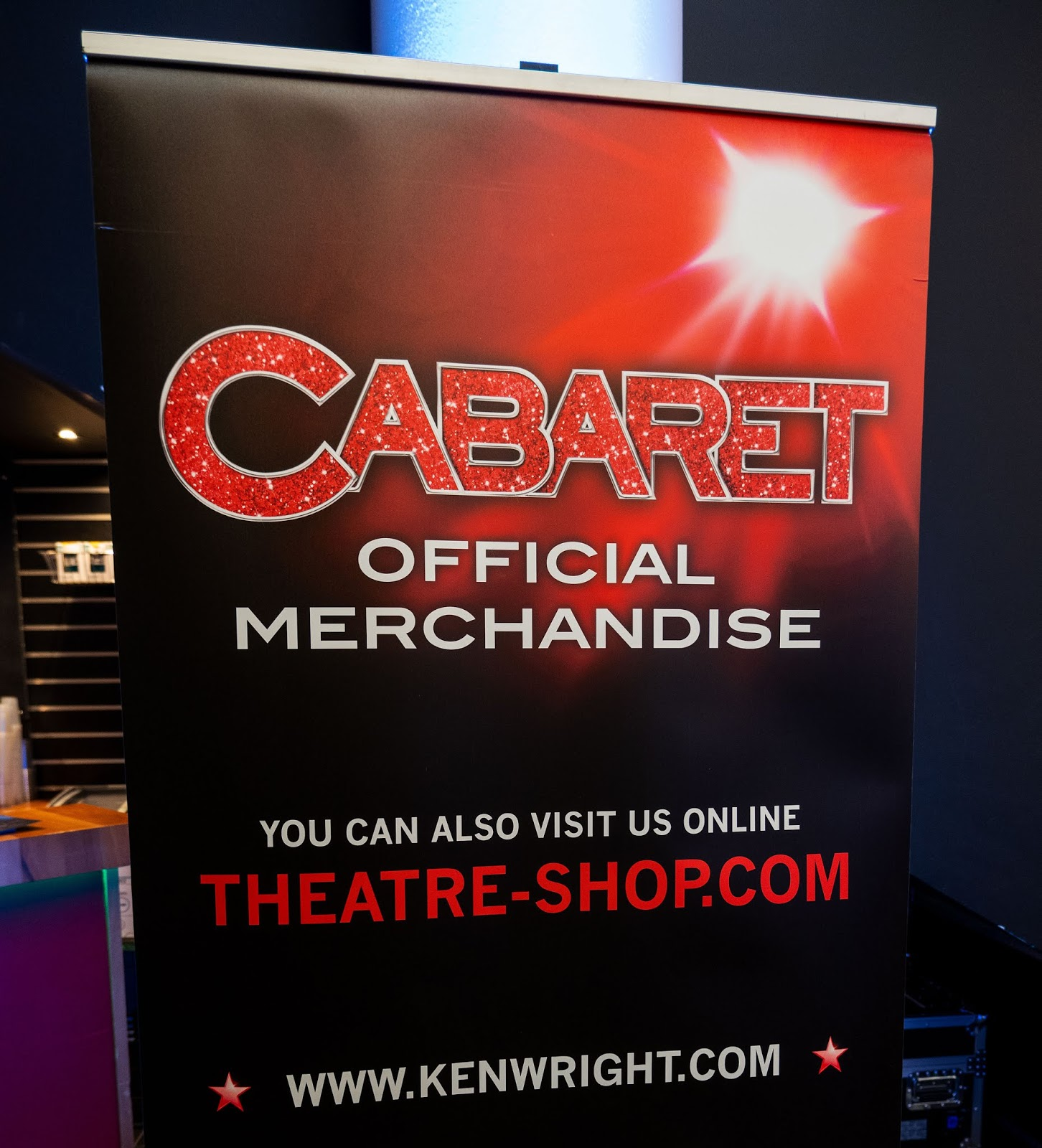 Cabaret banner in The Marlowe Theatre lobby