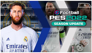 Download PES 2022 PPSSPP Android Update Realistic face 500+ & Update Full Transfer