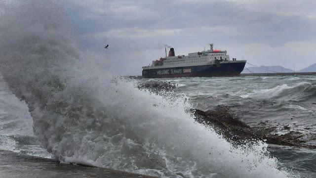 Χωρίς δρομολόγια πλοίων ο Αργοσαρωνικός λόγω κακοκαιρίας