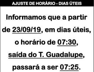 Horário de ônibus CTBA / GUATUPÊ