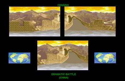 db218d193 O cenário da China aparece com o céu entardecido no Dramatic Battle.