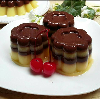 Puding Jagung Lapis Coklat