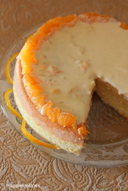 Bavarian Cream Cake With Fruit