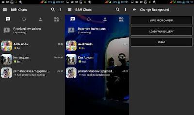 BBM Mod Dark Grey September 2016 Change Backgroud No Ads