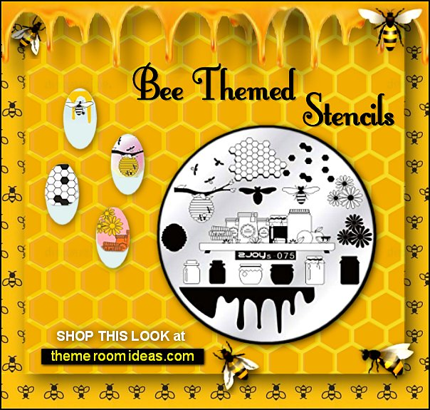 bee nail stamps Bee Nail Stencils, Bumble Bee Nails, Bee Nail Art honeycomb stamps beehive nail decoration