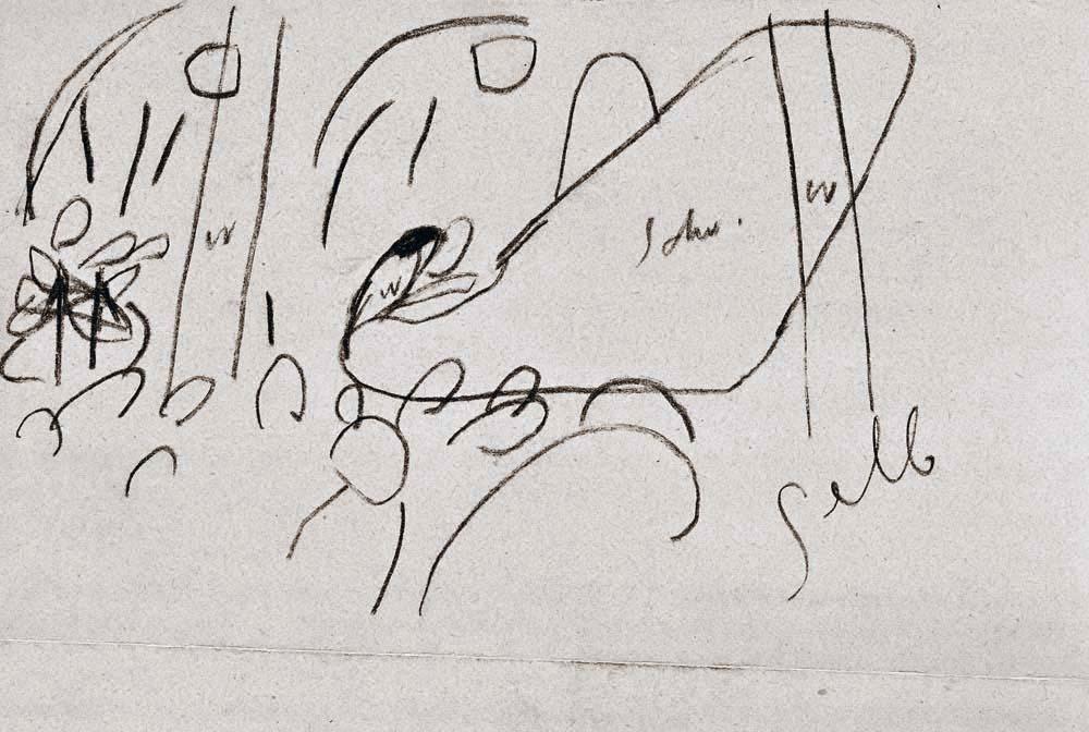 Vassily Kandinsky, 2º boceto para Impresión III (Concierto) (1911), Centro Pompidou, París