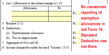 Changes in Form 16 for salary TDS certificate for AY 2019-20