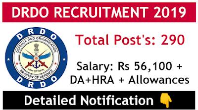 DRDO scientists recruitment 2019