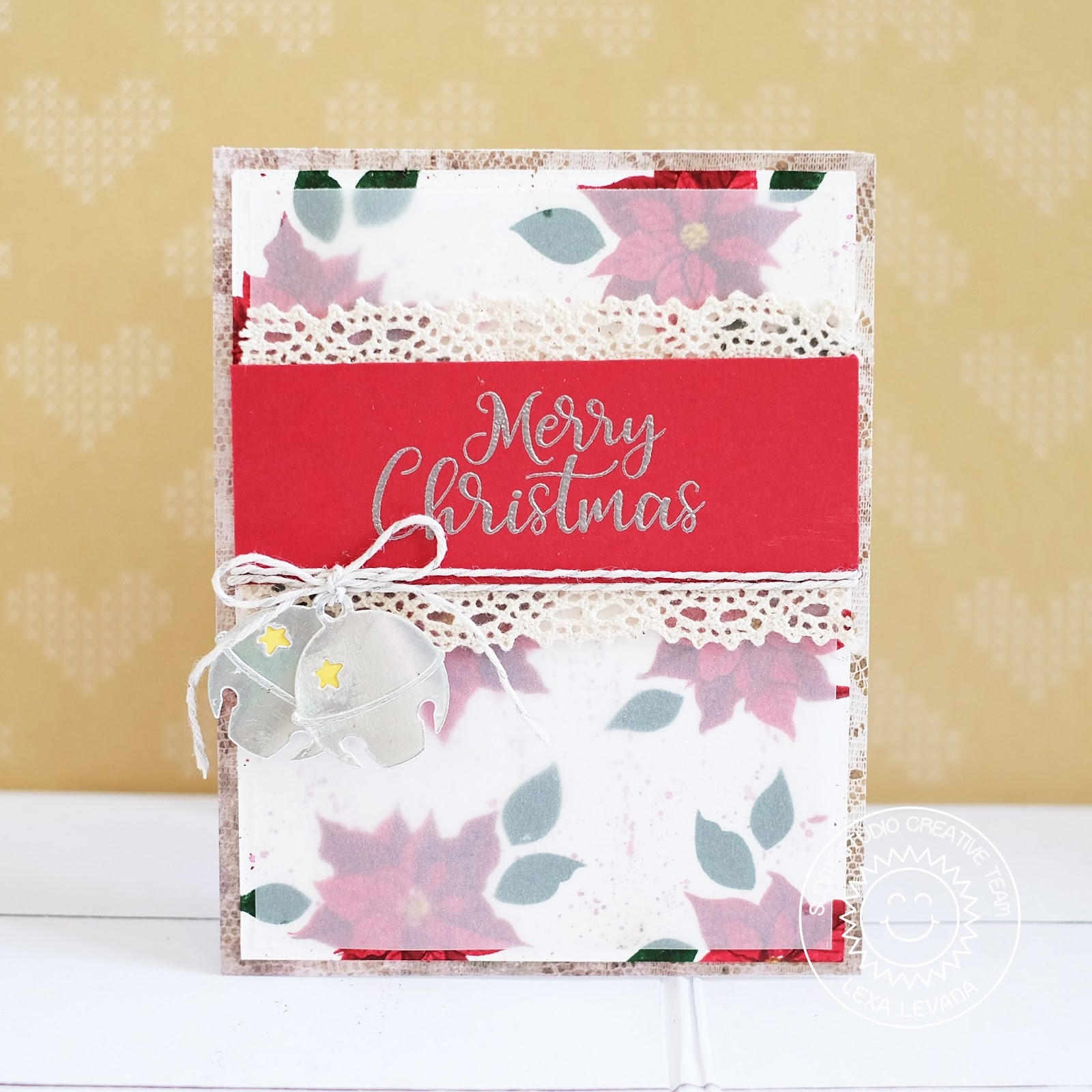 Lexa\'s Artsy Corner: Silver Bell Rustic Christmas Card