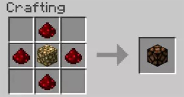 A glow stone and Redstone powder is all you need to make a Redstone lamp.