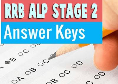 Answer Key for RRB ALP Stage 2, alp 2 answer key, rrb alp answer key available now, rrb answer key, rrb alp stage ii anser key, rrb alp ranchi, rrb patna, rrb kolkata, rrb ecr, rrb nwr, anser key, result date