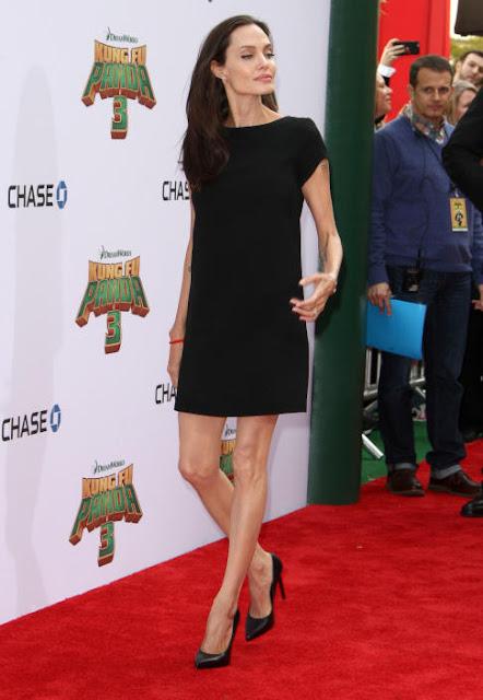 Sorprende Angelina Jolie con su delgadísima figura