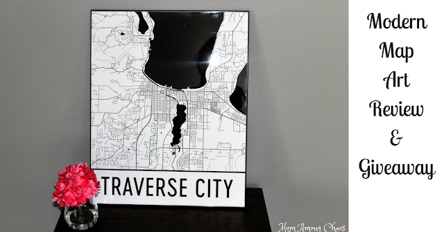 Modern Map Art, review, giveaway, style, Metro Detroit,