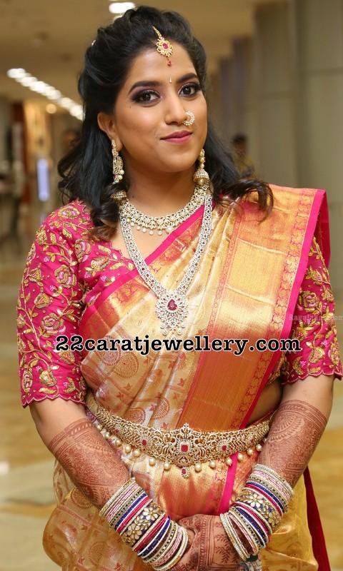 Diamond Floral Jewelry and Waist Belt