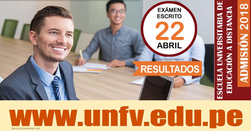 Resultados UNFV 2018-1 (22 Abril) EUDED - Ingresantes Examen Admisión Escuela Universitaria de Educación a Distancia - Universidad Nacional Federico Villarreal - www.unfv.edu.pe