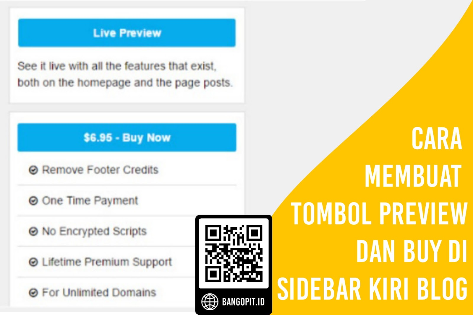 Cara Membuat Tombol Preview dan Buy di Sidebar Kiri Blog