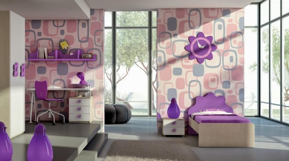 Cuarto de ni a en rosa y lila dormitorios colores y estilos for Habitacion lila y blanca