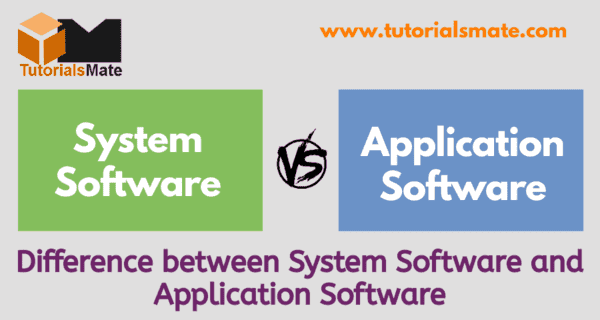 Difference Between System Software and Application Software (www.tutorialsmate.com)