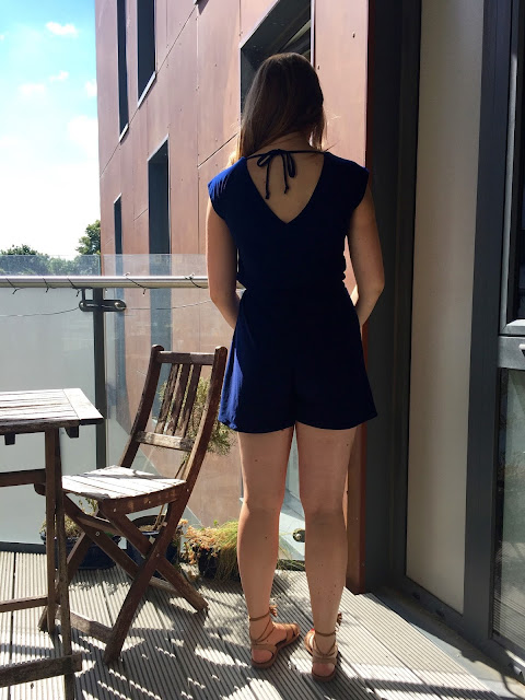 Diary of a Chain Stitcher: Closet Case Files Sallie Romper in John Kaldor Ritual Jersey from Sew Essential