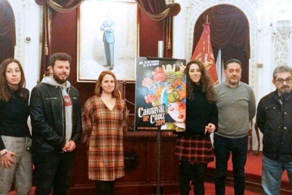Este lunes se seleccionan los carteles que optarán a ser el oficial del Carnaval de Cádiz 2020