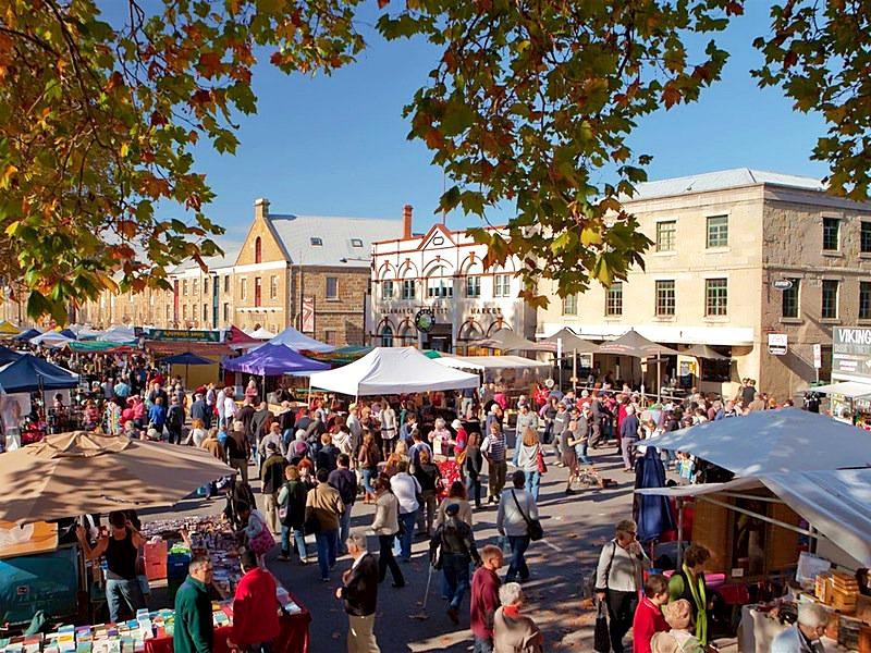 塔斯馬尼亞-景點-推薦-莎拉曼卡廣場-自由行-旅遊-澳洲-Tasmania-Tourist-Attraction-Salamanca-Markets-Travel-Australia