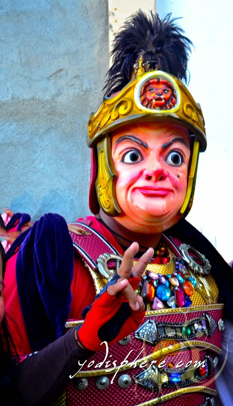 Funny face of Mr. Bean used in Moriones Festival