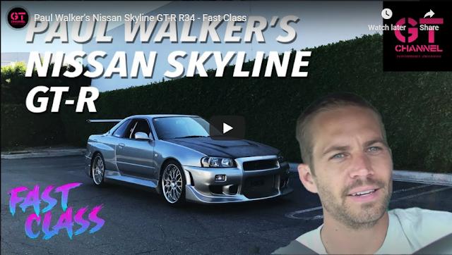 Paul Walker's Nissan Skyline GT-R R34 - Fast Class