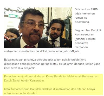 Isa Samad Ditahan SPRM