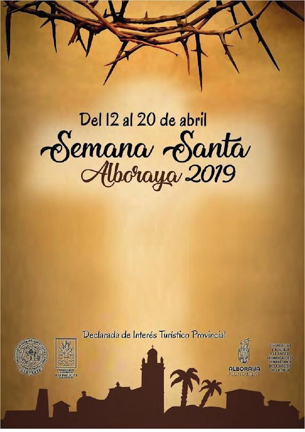 Programa con el Horario e Itinerario de la Semana Santa de Alboraya (Valencia) 2020