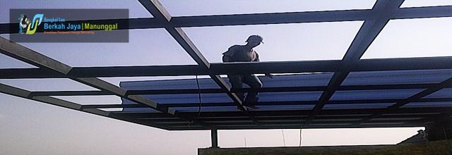 pemasangan baja ringan di cikarang bengkel las berkah jaya manunggal | jasa pagar murah ...