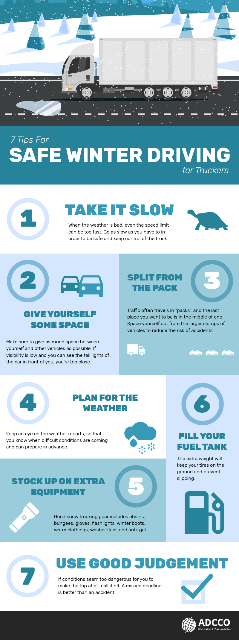 7 Tips For Safe Winter Driving #infographic #Winter Driving #Transportation #infographics #Driving Safety