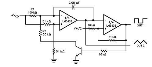 BiQuad Filter Circuit Diagram using LM3403 Quad Op Amp