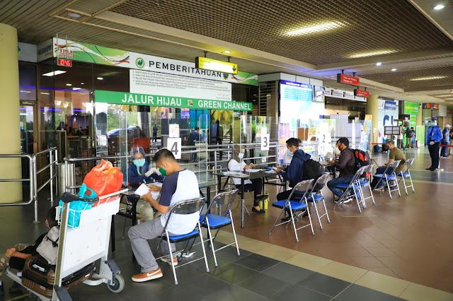 Pergerakan Lalu Lintas Angkutan Udara di Bandara Internasional Hang Nadim Batam Maret 2021