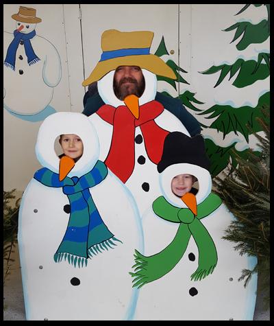 A Trio of snowmen at Drusillas