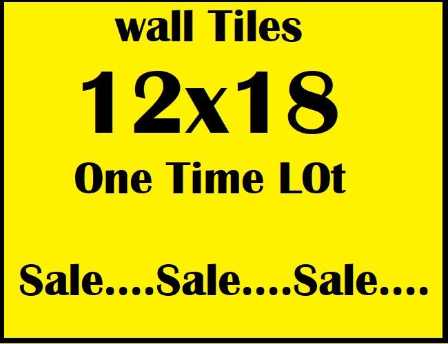 12x18 one time big lot ceramic tile sale
