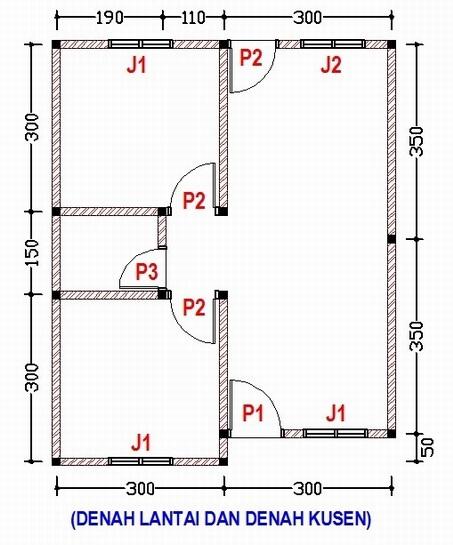 Desain Rumah Ukuran 6 Bata