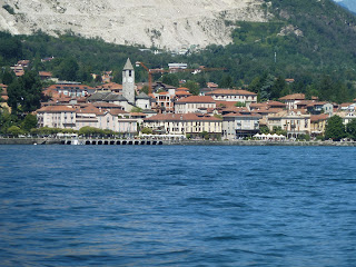 The waterfront at Baveno, Cardini's home town on the western shore of Lake Maggiore