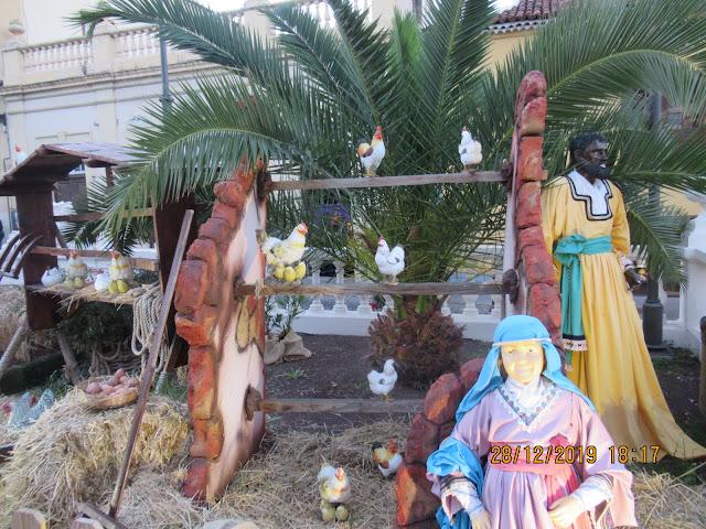 unglaublich schön und liebevoll gemacht war die Krippenlandschaft in La Orotava